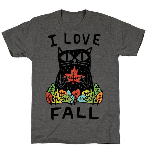 I Love Fall Cat T-Shirt