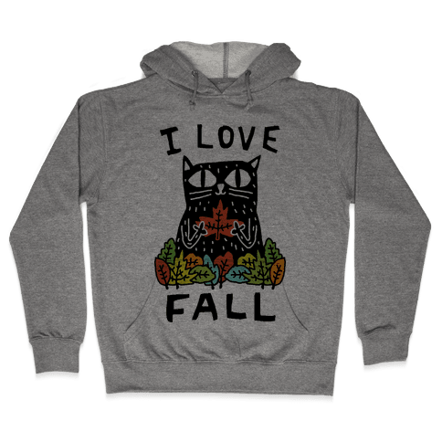 I Love Fall Cat Hooded Sweatshirt