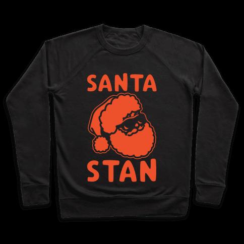 Santa Stan Parody White Print Pullover