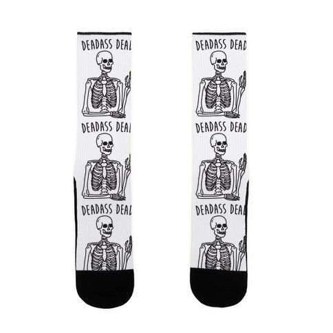 Deadass Dead Skeleton Sock
