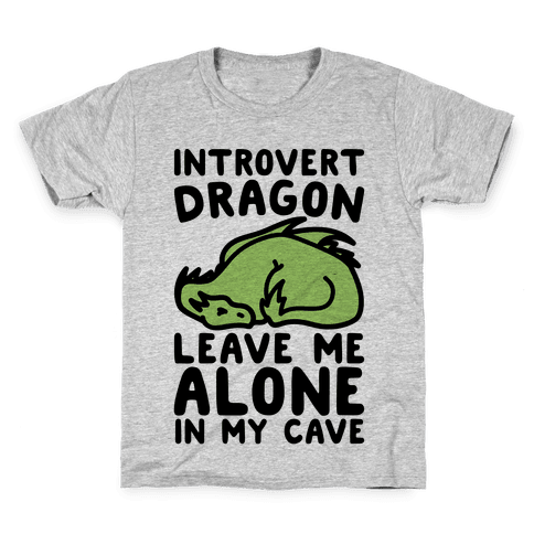 Introvert Dragon  Kids T-Shirt