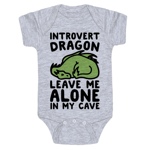 Introvert Dragon  Baby Onesy