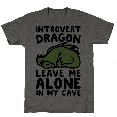 Introvert Dragon  Mens T-Shirt