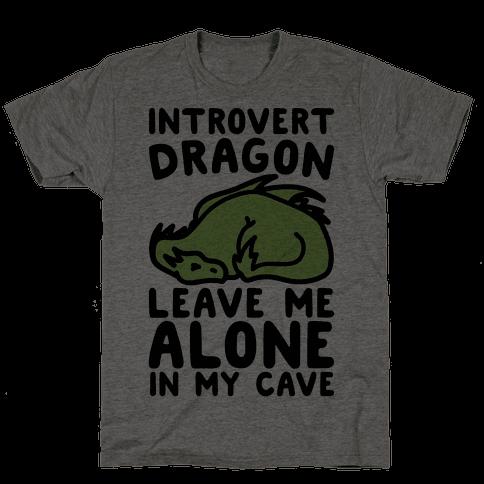 Introvert Dragon  Mens T-Shirt