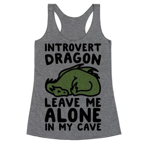Introvert Dragon Racerback Tank Top