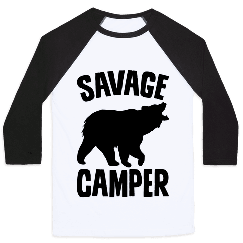 Savage Camper Baseball Tee
