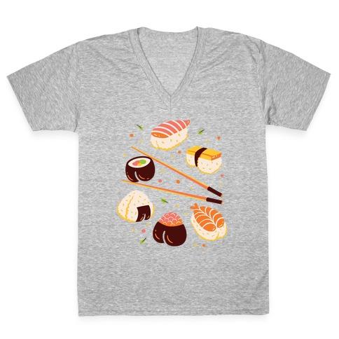 Subtle Sushi Booty V-Neck Tee Shirt