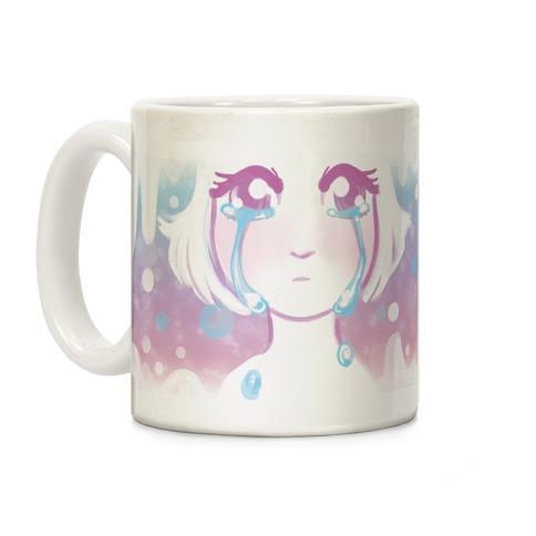 Anime Girl Tears Coffee Mug