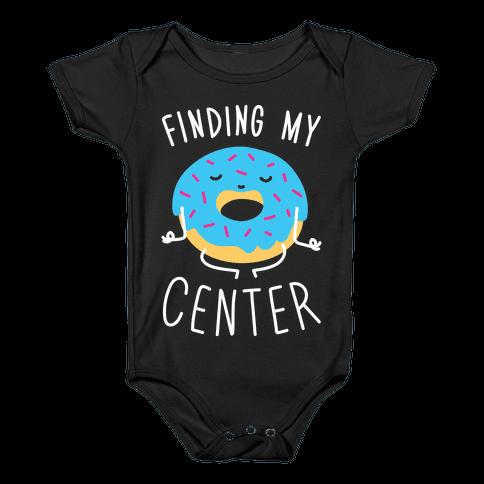 Finding My Center Baby Onesy