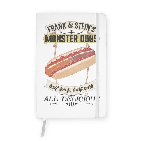 Frank & Stein's Monster Dogs Notebook