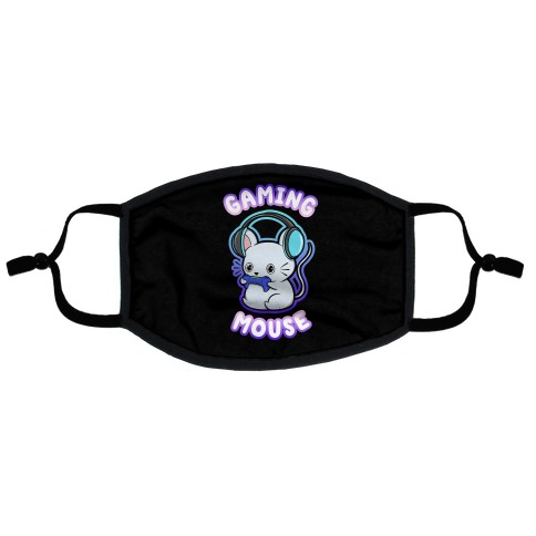 Gaming Mouse Flat Face Mask