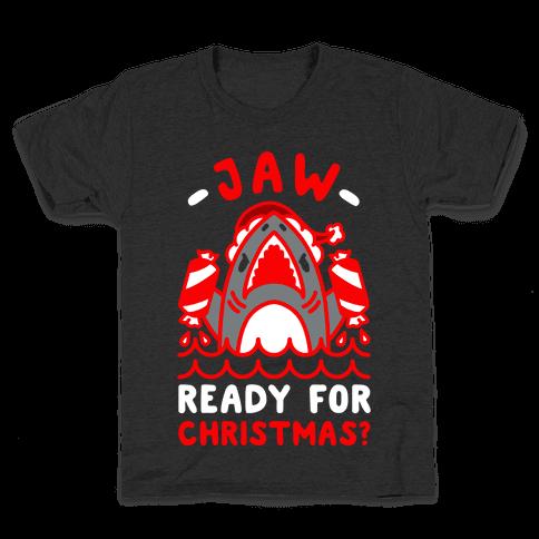 Jaw Ready For Christmas? Santa Shark Kids T-Shirt