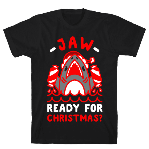 Jaw Ready For Christmas? Santa Shark Mens T-Shirt