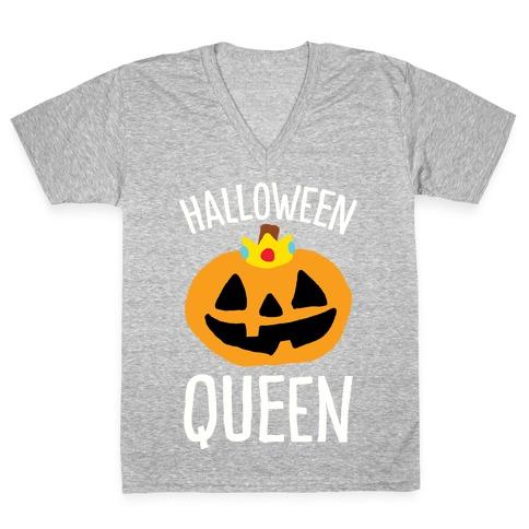 Halloween Queen V-Neck Tee Shirt