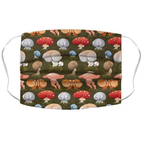 Butt Mushroom Pattern Accordion Face Mask