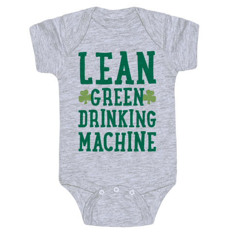 Lean Green Drinking Machine Baby Onesy