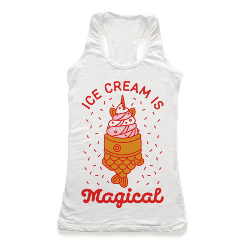Ice Cream is Magical Racerback Tank Top