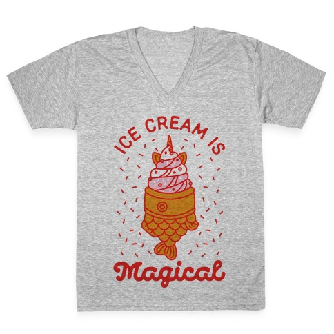 Ice Cream is Magical V-Neck Tee Shirt