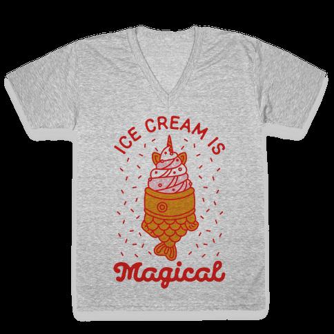 Ice Cream is Magical V-Neck Tee Shirt