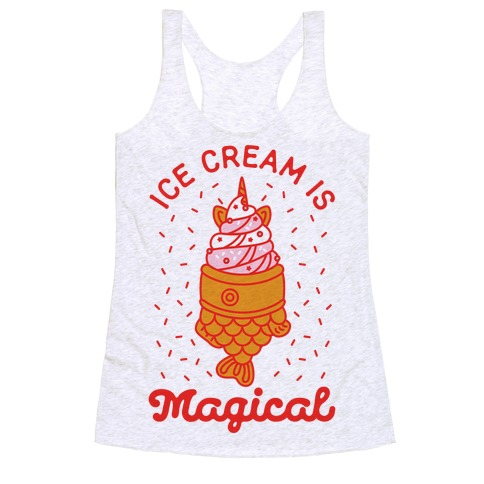Ice Cream is Magical Racerback Tank Top