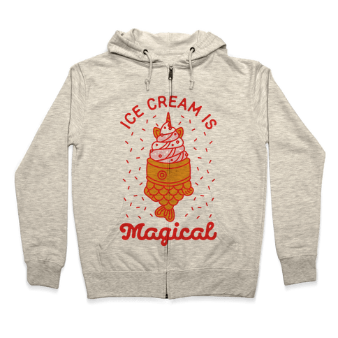 Ice Cream is Magical Zip Hoodie