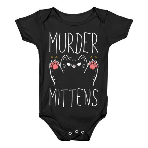 Murder Mittens Baby Onesy