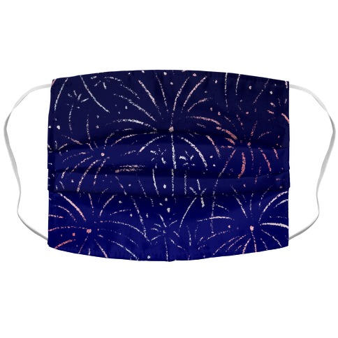 July 4th Fireworks Accordion Face Mask