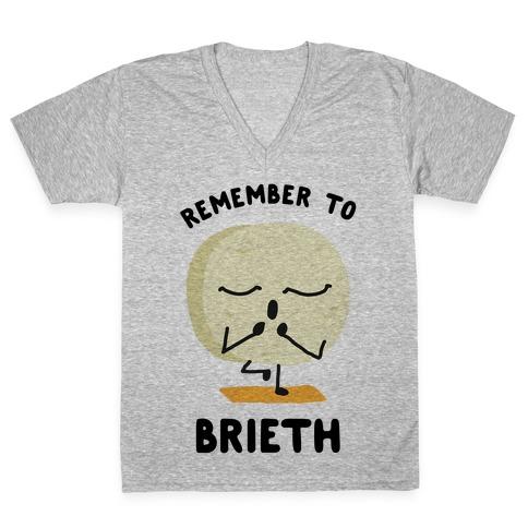 Remember To Brieth V-Neck Tee Shirt