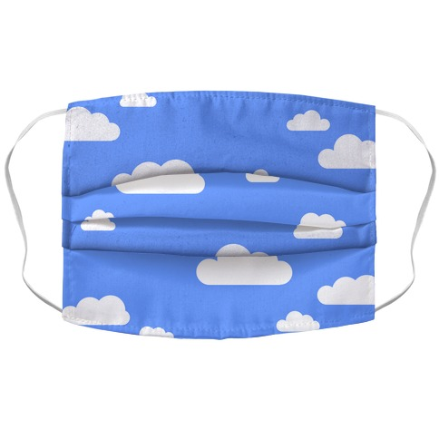 Fluffy Clouds Accordion Face Mask