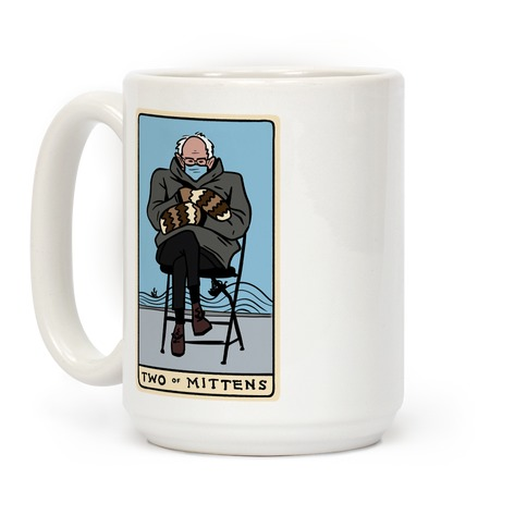 Two of Mittens (Bernie Tarot Parody) Coffee Mug