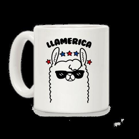 Llamerica American Llama Coffee Mug