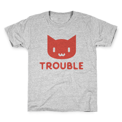 Trouble Cat Kids T-Shirt