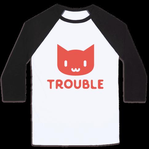 Trouble Cat Baseball Tee