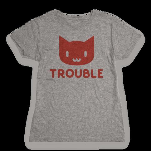 Trouble Cat Womens T-Shirt