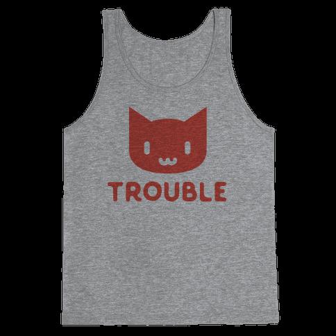 Trouble Cat Tank Top