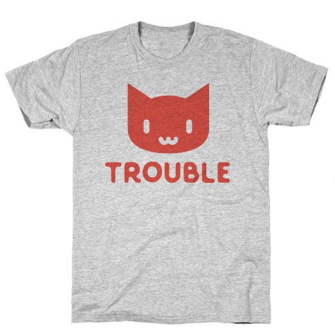Trouble Cat Mens T-Shirt