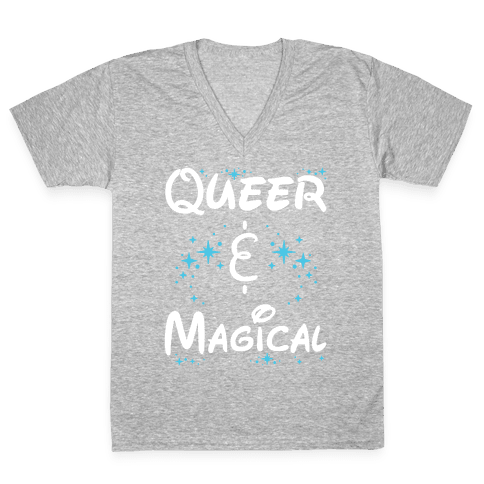 Queer and Magical V-Neck Tee Shirt
