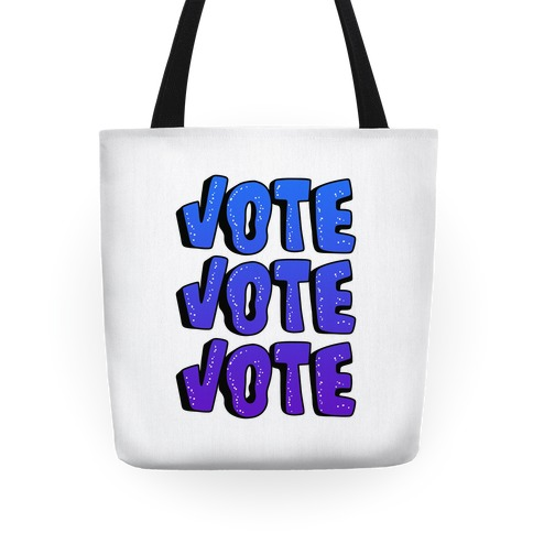 Vote Vote Vote! (Blue Gradient) Tote