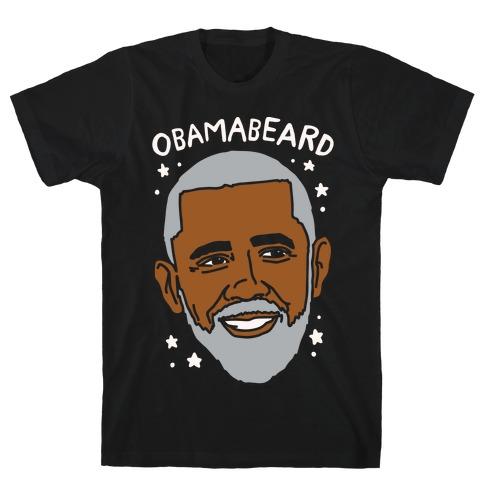 Obamabeard White Print T-Shirt