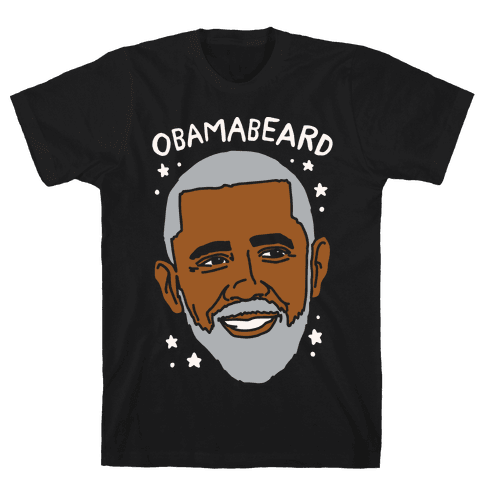 Obamabeard White Print