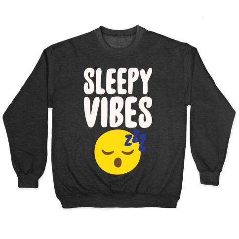 Sleepy Vibes White Print Pullover