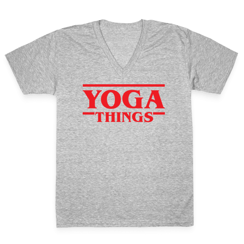 Yoga Things V-Neck Tee Shirt