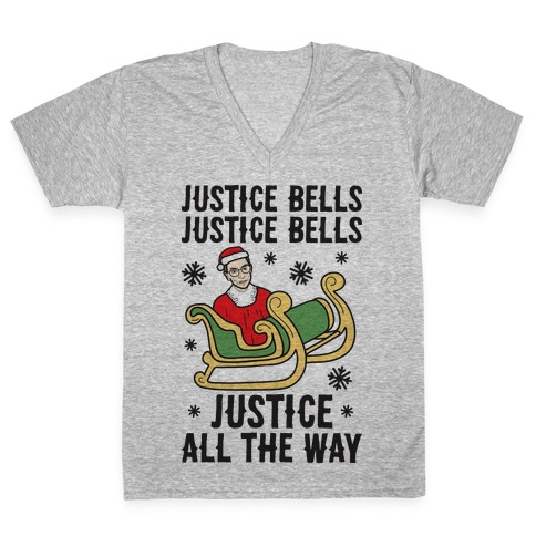 Justice Bells RBG V-Neck Tee Shirt