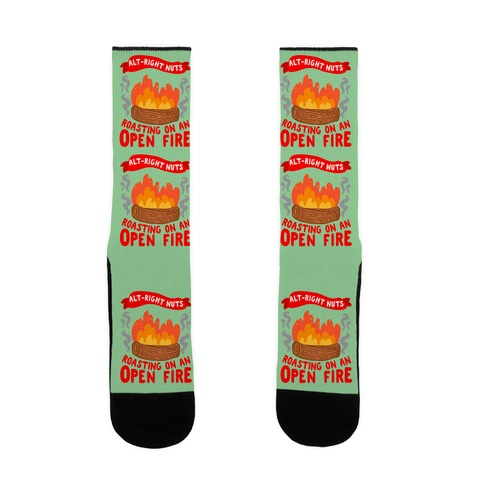 Alt-Right Nuts Roasting on An Open Fire Sock