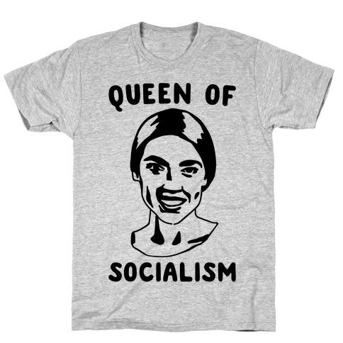 Queen of Socialism Alexandria Ocasio-Cortez T-Shirt