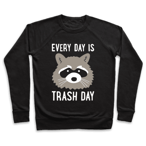 Every Day Is Trash Day Raccoon Pullover