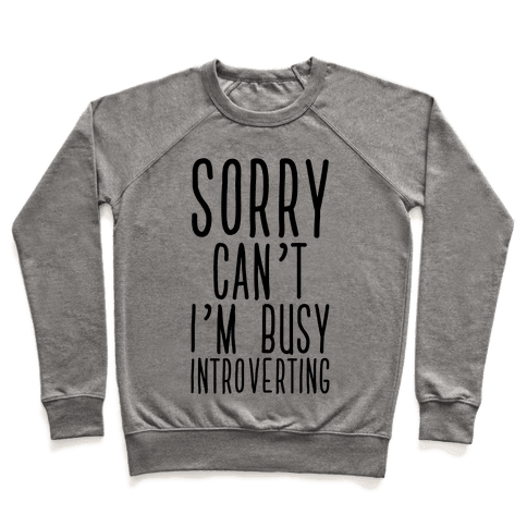 Sorry Can't I'm Busy Introverting Pullover