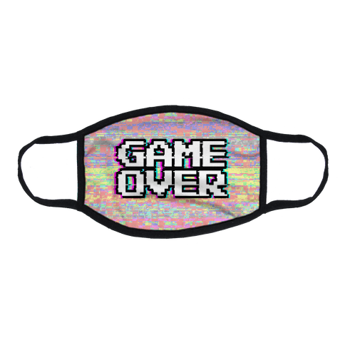 Retro Game Over Flat Face Mask