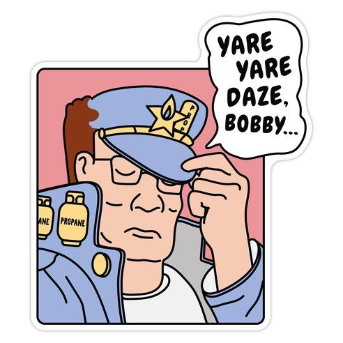 Yare Yare Daze, Bobby Die Cut Sticker