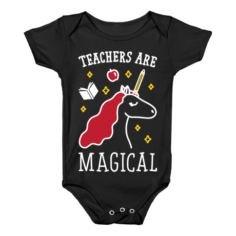 Teachers Are Magical (White) Baby Onesy